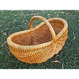 Cesta de la compra, frutero, cosecha Cesta, seta de colección cesta Exklusiv, color marrón oscuro