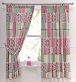 Dreams & Drapes Shantar Kissenbezüge, Blau, Pink, Pair of 66x72 Curtains