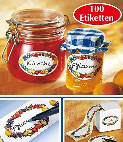 BALDUR-Garten GmbH - Dispensador de pegatinas (1 paquete), diseño con borde con frutas