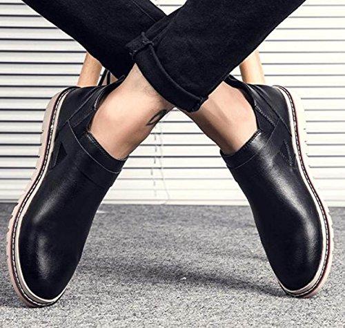 Autunno Versione Coreana Uomini Scarpe Casual Inghilterra Scarpe Pigre Scarpe Di Cuoio Black