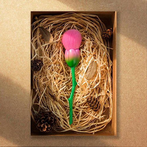 ESAILQ Single Rose Fondation Pinceau Poudre Brosse Correctrice Pinceaux pour le Visage (Rose)