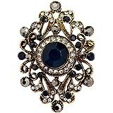 Generic Donna Fiore Gioielli Vintage Strass Spilla Monili Regalo - Blu