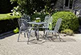 greemotion Gartentisch Toulouse eckig, quadratischer Tisch aus kunststoffummanteltem Stahl, Esstisch mit Niveauregulierung, eisengrau - 6