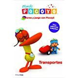 Colorea y juega con Pocoyó. Transportes: Libro de actividades con adhesivos (Pocoyo)