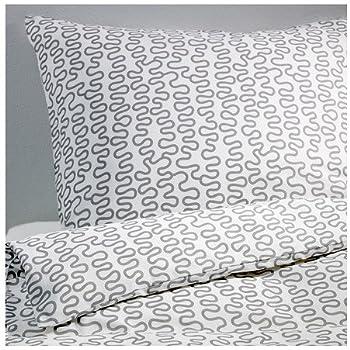 Ikea Bettwäsche Garnitur Höstöga Grau Weiß Gestreift In 3 Größen