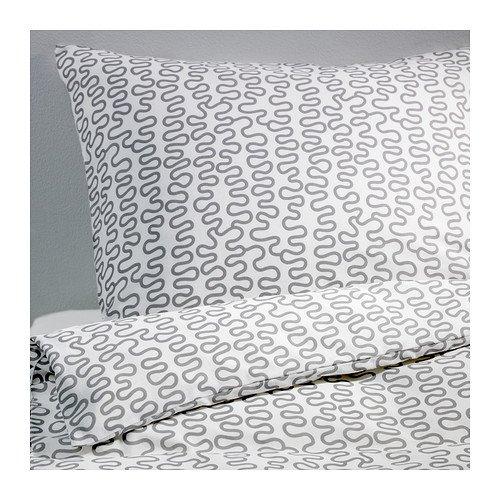 IKEA KRAKRIS Bettwäscheset 2tlg. (140x200cm und 80cm x 80cm); Kopfkissen und Bettbezug