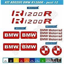 R1200R pegatinas stickers BMW R1200 R Juego de 12 piezas-SCEGLI COLORE-motorbike Cod.0063 moto, Rosso cod. 031