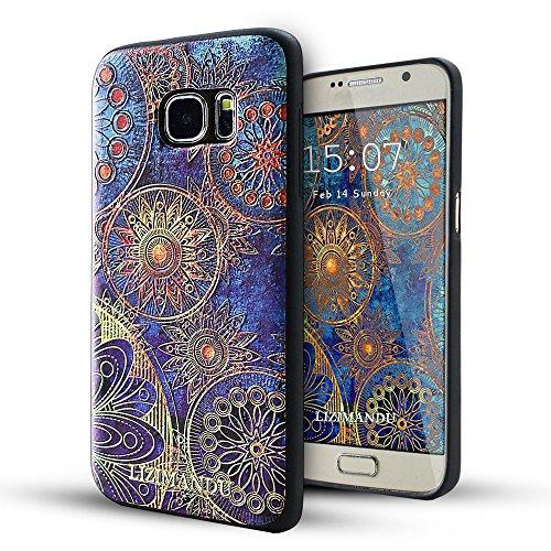 Galaxy S7 Coque,Lizimandu 3D Motif Tpu Silicone Gel Étui Housse Protection Shell Cover Case Pour Samsung Galaxy S7(Fleur Bleue/Blue Flower)
