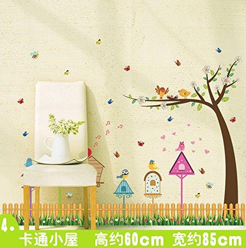 yusri Wandtattoos & Wandbilder PVC-Gänseblümchen Kicks - veröffentlicht von Wandmalereien 108 * 30 cm, Cartoon Cabana -
