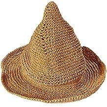 Leisial Sombrero Gorra Paja de la playa Gorro de Viaje Protector Solar Sombrero de Sol Respirable Sombrero Creativo Lindo Verano Primavera para los Unisex Bebé Niños ,Amarillo