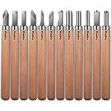 Preciva Outil de Gravure en Bois Kit, 12 Pièces Décapage Couteau Sculpture sur Bois, Ciseaux à Bois, DIY Outil de Sculpture p