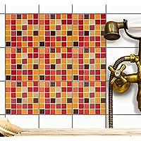 Fliesen Mosaik Folie   Deko Aufkleber Für Badfliesen Und Küchenspiegel    Selbstklebende Fliesen