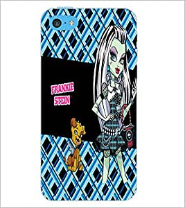 PrintDhaba Kitty and Girl D-2158 Back Case Cover for APPLE IPHONE 5C (Multi-Coloured)