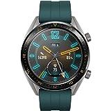 Huawei Watch GT Active Smartwatch (46 mm Amoled pekskärm, GPS, fitness Tracker, pulsmätning, 5 ATM vattentät) mörkgrön