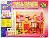 #8: Happy GiftMart 34 pc Doll House Equipped With Furniture And Accessories.