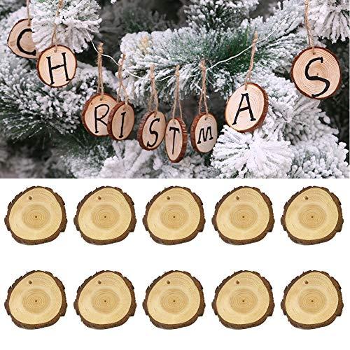 Holz Weihnachtsbaum hängende Ornamente DIY Malerei Dekoration Handwerk Anhänger Geschenk Multi ()