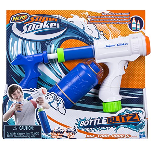 Preisvergleich Produktbild Hasbro Super Soaker B4445EU4 - Bottle Blitz 2.0, Wasserpistole