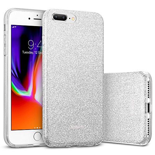 ESR iPhone 8 Plus Hülle, iPhone 7 Plus Hülle, Luxus Glitzer Bling [Glänzende Mode][Ultra Dünn] Designer Schutzhülle für Apple iPhone 8/7 Plus 5.5 Zoll 2017 Freigegeben. (Silber) …