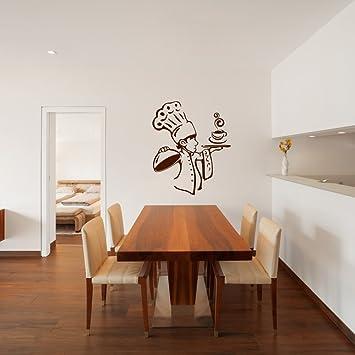 Perfekt Malango® Wandtattoo Koch Chefkoch Wanddekoration Wandaufkleber Küche  Esszimmer Tattoo Dekoration Essen Kochen Ca. 117 X 140 Cm Kupfer:  Amazon.de: Küche U0026 ...