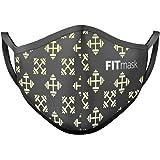 FITmask Mascarilla Reutilizable Lavable Certificada Tejido Hidrófugo Made in Spain Gym Edition - Adulto Orejera - L