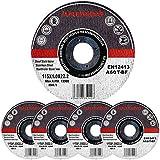 Assortiment de 200 disques à tronçonner à moyeu déporté pour Métaux Diamètre 115 mm Diamètre d'alésage 22,23 Epaisseur 1,0 mm 200 disques