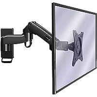 """Invision Support Mural Moniteur pour PC et TV – Écrans de 17 à 27"""" – Bras Ergonomique Ajustable avec Inclinaison et…"""