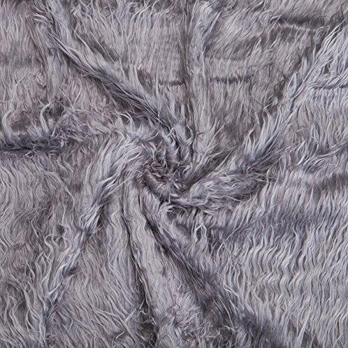 Neotrims tela de pelo sintético, suave lana de oveja, fotografía, Fat cuadrados. Para manualidades fotografía y ropa. 15Impresionante sutil, natural y colores brillantes. Todo Precio de Venta, 6. Grey, Fat Square (50x40cm)