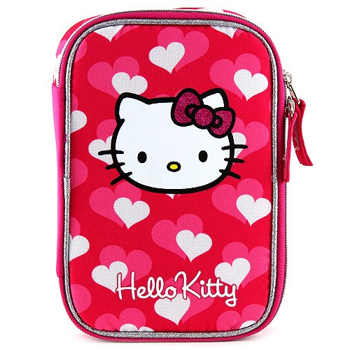 Target Hello Kitty Pencil Case Estuches, 23 cm, Rosa (Pink/Black)
