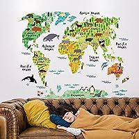 Vinilo decorativo Pegatina de pared Adhesiva Mapa   Mundi Infantil habitaciones Infantiles, zonas de juegos...Vinilo original y divertido para Niños