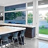 Sichtschutzfolie Hitzeschutz Sonnenschutzfolie Selbstklebende Spiegelfolie Fensterfolie Tönungsfolie Sichtschutz Wärmeisolierung UV-Schutz Silber 45 x 200 - 7