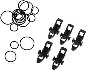 10 Stück Kreisringe 5 Stück Angelrute Haken