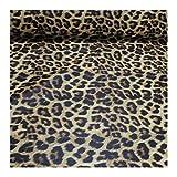 Stoff PVC Kunstleder Leopard braun Leo Tier Print