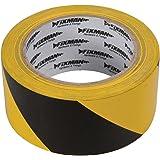 FIXMAN 190195 afsluitband 50 mm x 33 m, zwart-geel