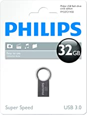 Philips USB Flash Drive FM32FD145B/10 - USB Flash Drives (32 GB, 3.0 (3.1 Gen 1), USB Type-A connector, 30 MB/s, Capless, Stainless steel)