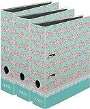 3 Stück Herlitz Ordner A4 Ladylike Serie maX.file, 8 cm | Ladylike Roses