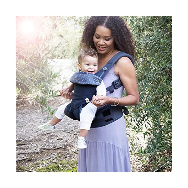 ERGObaby Baby Carrier for Toddler, 360 Dusty Blue 4-Position Ergonomic Child Carrier and Backpack Ergobaby 4 ergonomic wearing positions: front-inward, front-outward, hip and back carry Structured bucket seat keeps baby seated in the anatomically correct frog-leg position Exceptionally comfortable thanks to adjustable, extra-wide waistband to support the lower back;Start with newborn infant insert 0-4 months/7-12lbs, sold separately 5