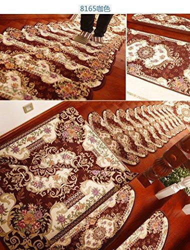 XBR Tapis Jacquard ménage européen Mat sixième génération des Tapis en Caoutchouc Tapis de Jacquard Libre,222 vin Rouge,- 30 * 100 Libre en Plastique