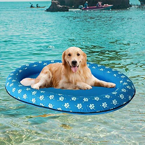 DSFSFFFD Mode Druck Aufblasbare Haustier Hund Wasser Spaß Spielzeug Pool Schwimmt Matratze Durable Tragbare Hund Haustier Sommer Schwimmbad Spielzeug Q32