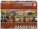 Educa Borras-1000 Dogs on The Quay Panorama Puzzle, Colore Vario, 17689