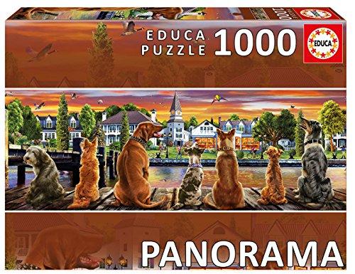 Educa Borrás- Puzzle 1000 Perros en el embarcadero, Panorama, (17689)
