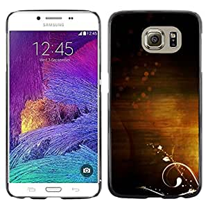 Omega Covers - Snap on Hard Back Case Cover Shell FOR Samsung Galaxy S6 - Light Subtle Warm Calming Clean Flower