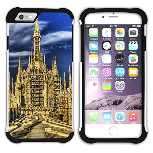 Graphic4You Mailand Italien Postkarte Aussicht Hart + Weiche Kratzfeste Hülle Case Schale Tasche Schutzhülle für Apple iPhone 6 Plus / 6S Plus Design #1