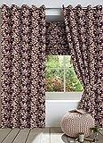 Nuhome Jacqaurd Purple Leaf Polyester Co...