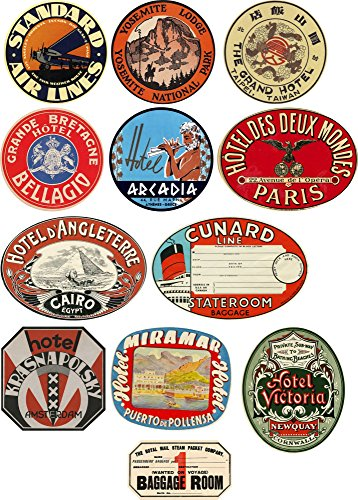 stile-vintage-viaggio-etichette-bagagli-set-di-12-adesivi-in-vinile
