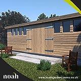 Noah Garden Rooms Don Marino - Cobertizo de madera para jardín, taller o garaje (6 x 3 m, robusta)