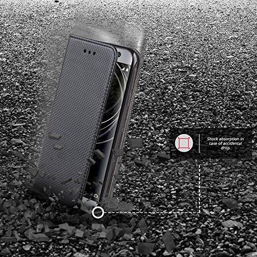 Flip Smart Magnetica con Funzione di appoggio Nero Moozy Cover
