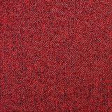 MonsterShop Dalle de Moquette Ultra-Résistant Couleur Rouge Ecarlate pour Usage Professionnel, Paquet de 20 Dalles de 50cm x 50cm (Superficie de 5m²)...