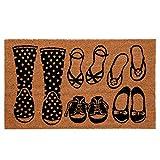 Clayre & Eef MC113 Fußmatte/Türmatte Schuhe 75 * 45 * 1 cm