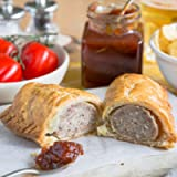 The Real Pie Company - Traditional Sausage Roll, Fresh Baked to Order - Award Winning Premium British Pies (6 x 180g)