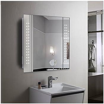 60 led light bathroom mirror cabinet shaver socket demister sensor